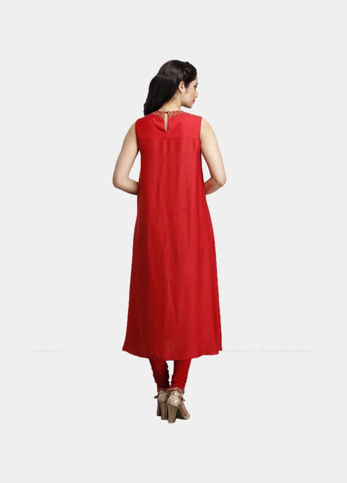 The Red Modal Kurta Bottom Dupatta Set