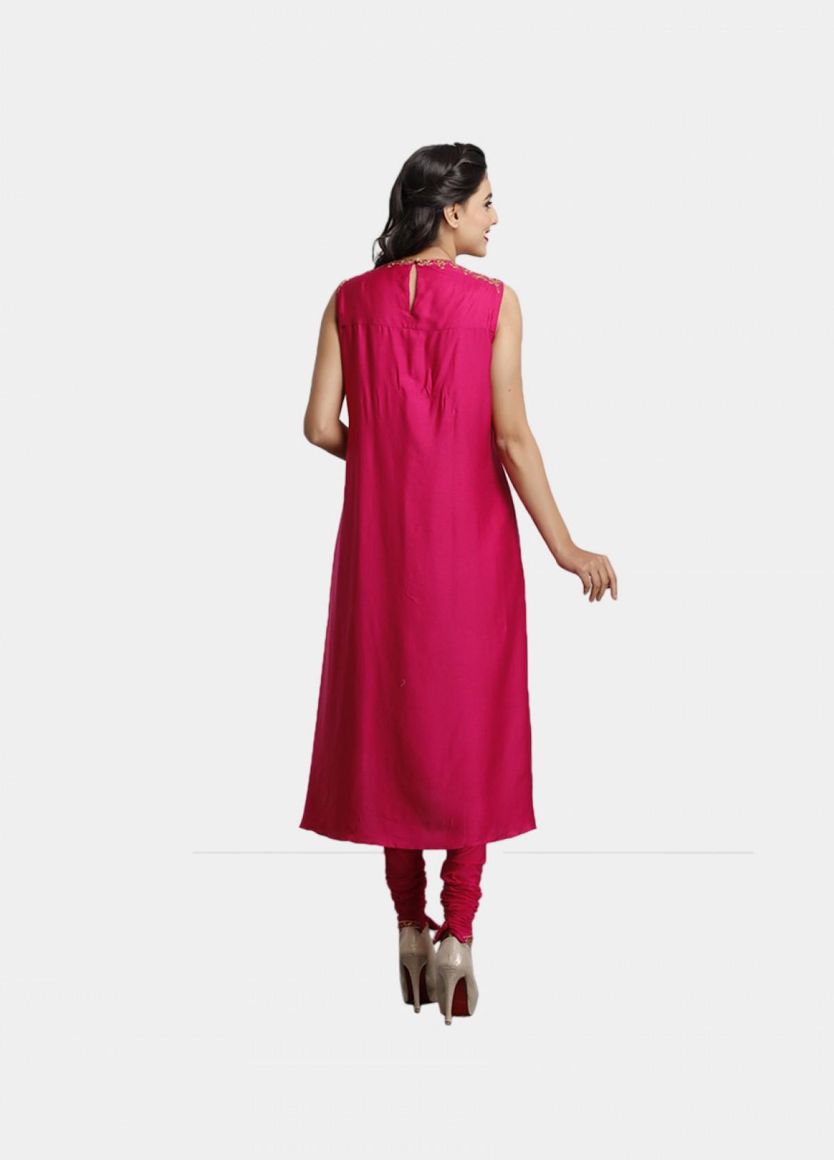 The Pink Magenta Modal Kurta Bottom Dupatta Set