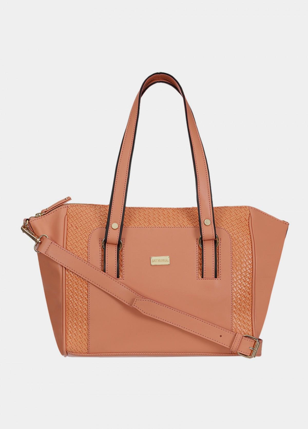 The Satyapaul Women Fashion Peach Hand Bag