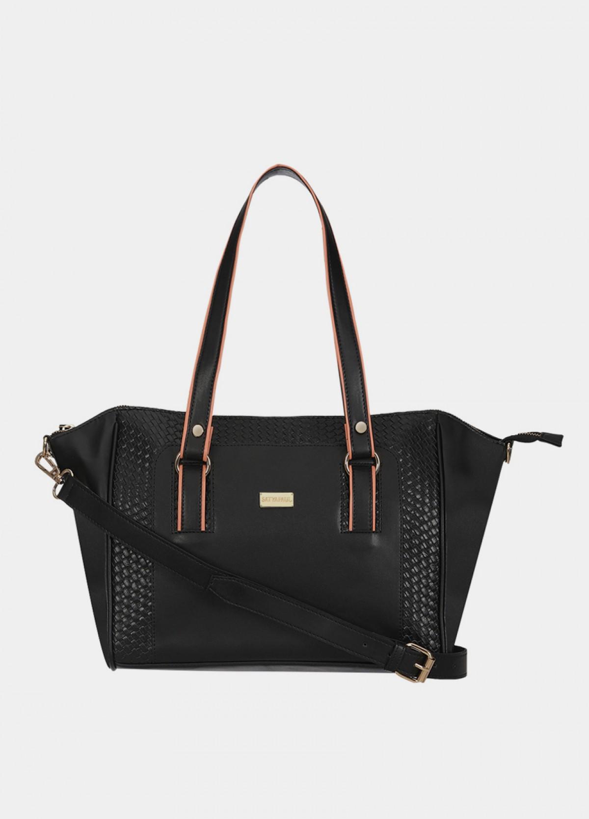 The Satyapaul Women Fashion Black Hand Bag