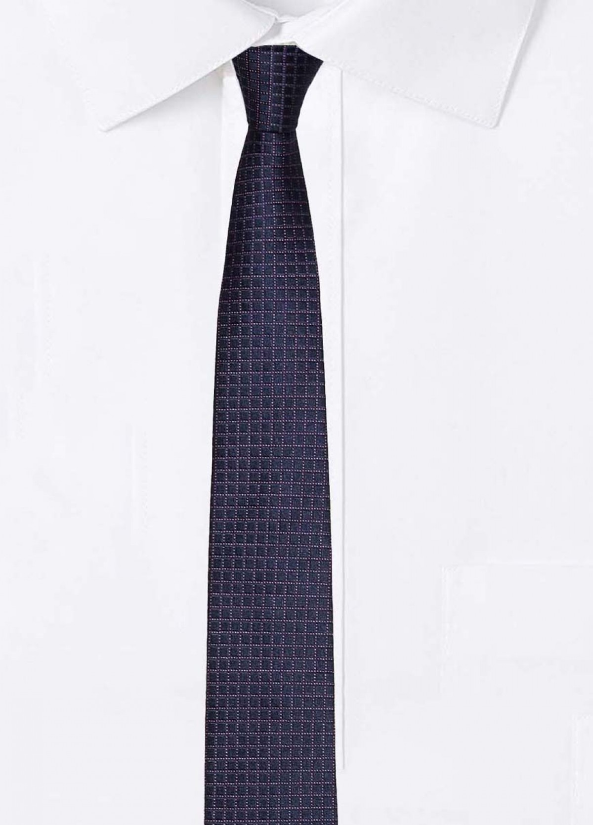 The Navy Stain Resistant Tie