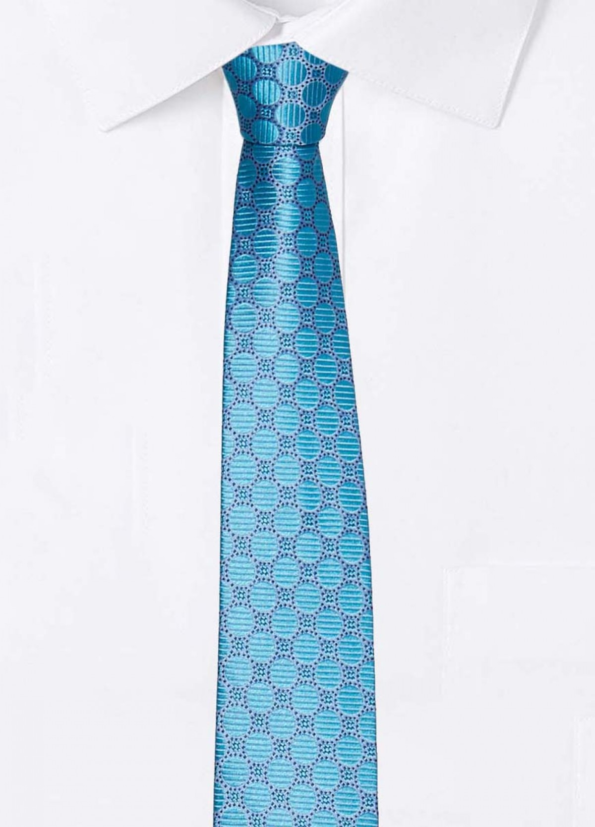 The Turquoise Stain Resistant Tie