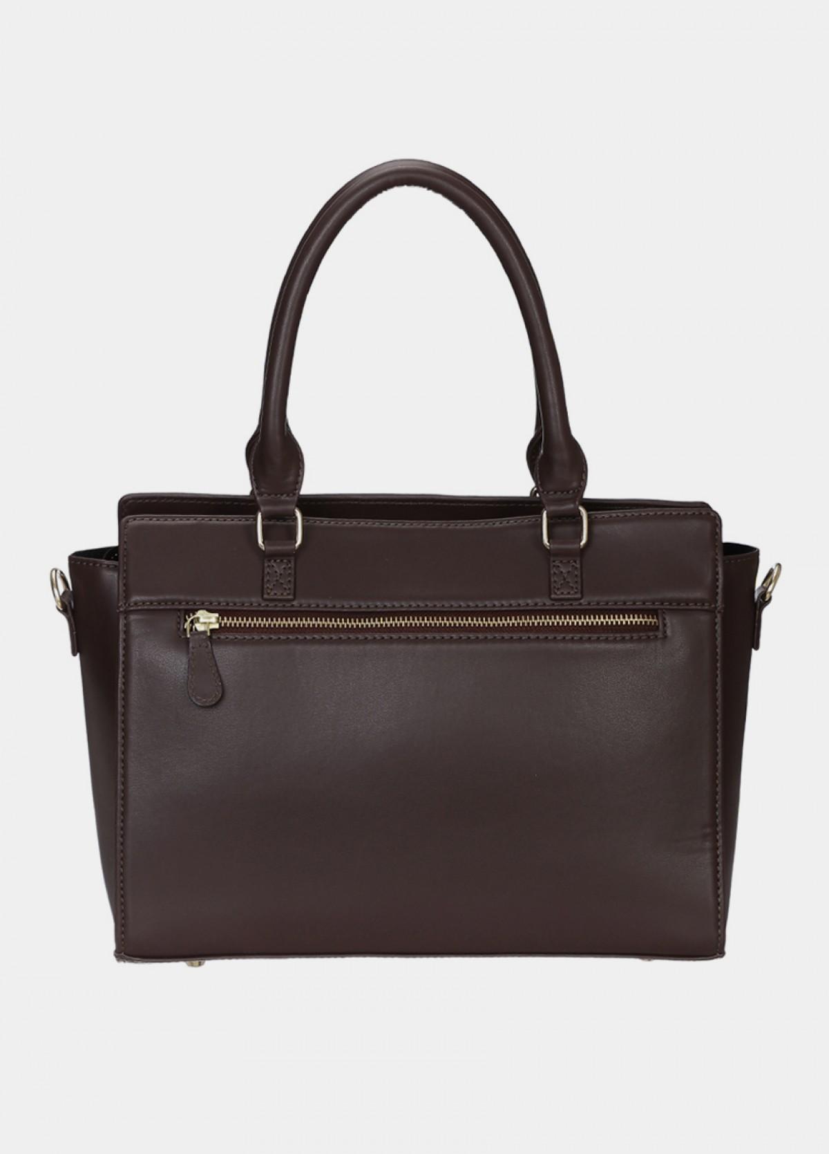 The Brown Printed Shoulder Handbag