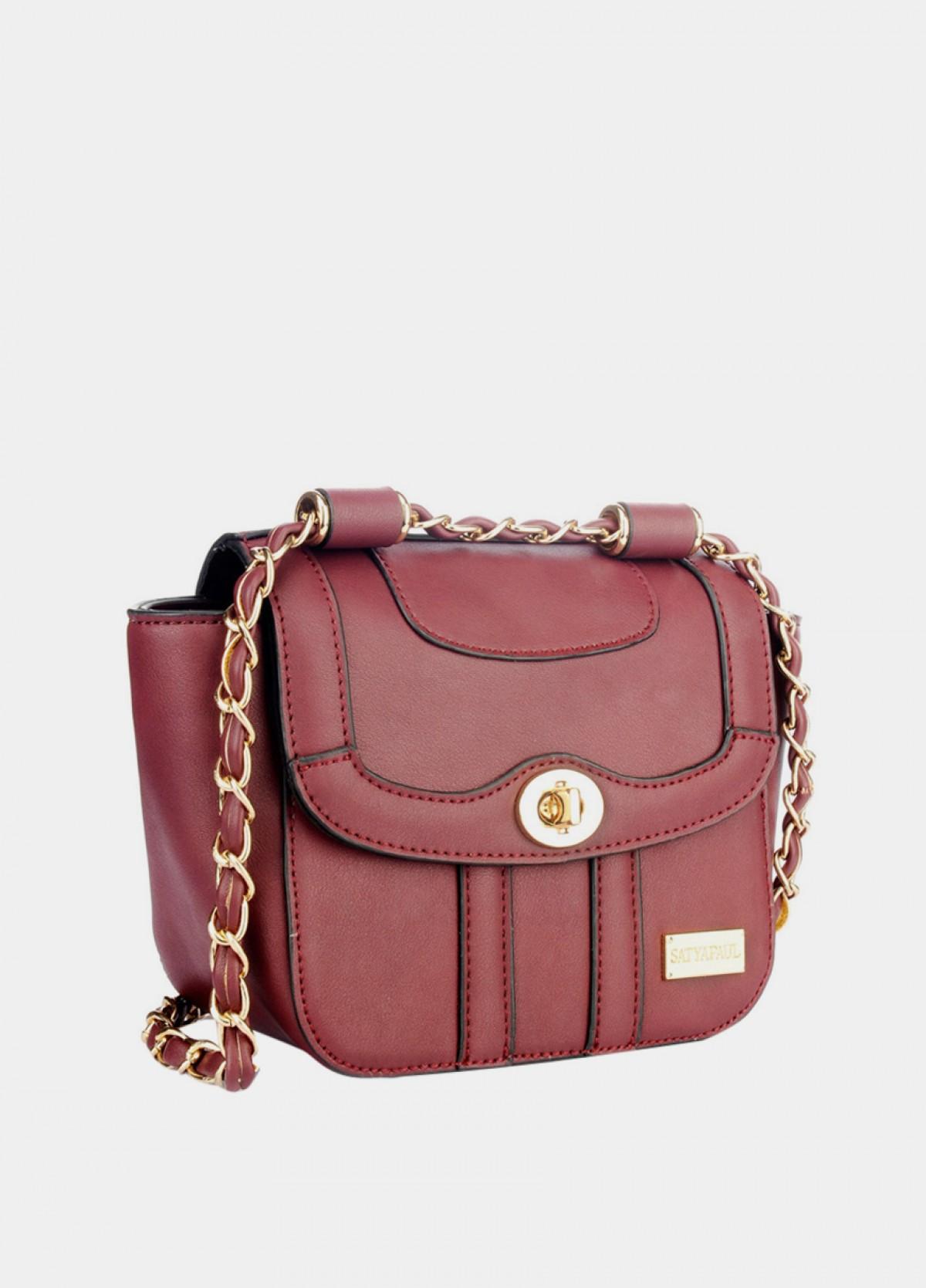 The Burgundy Sling Bag