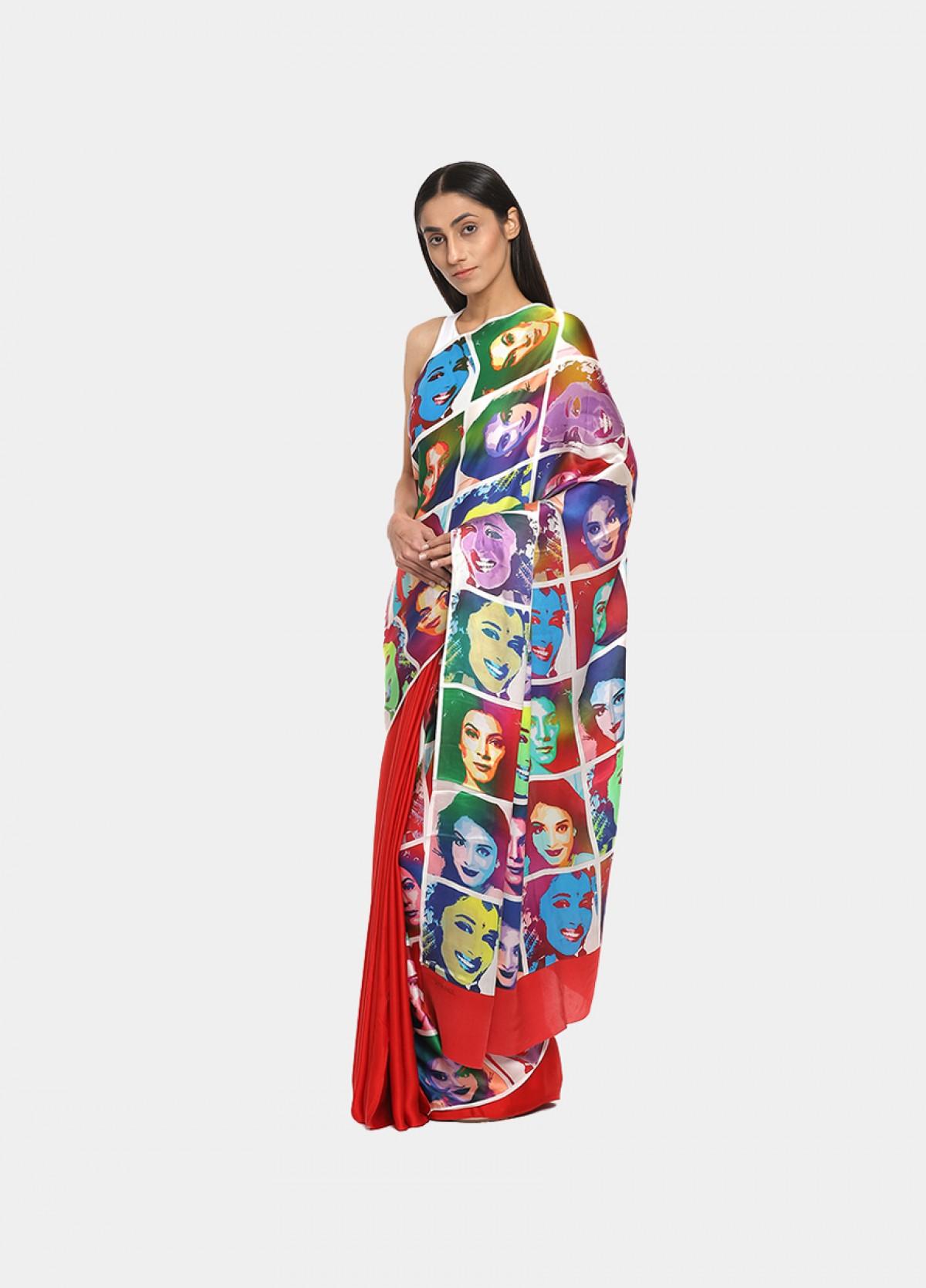 The Pop Art Inspired Print Printed Sari