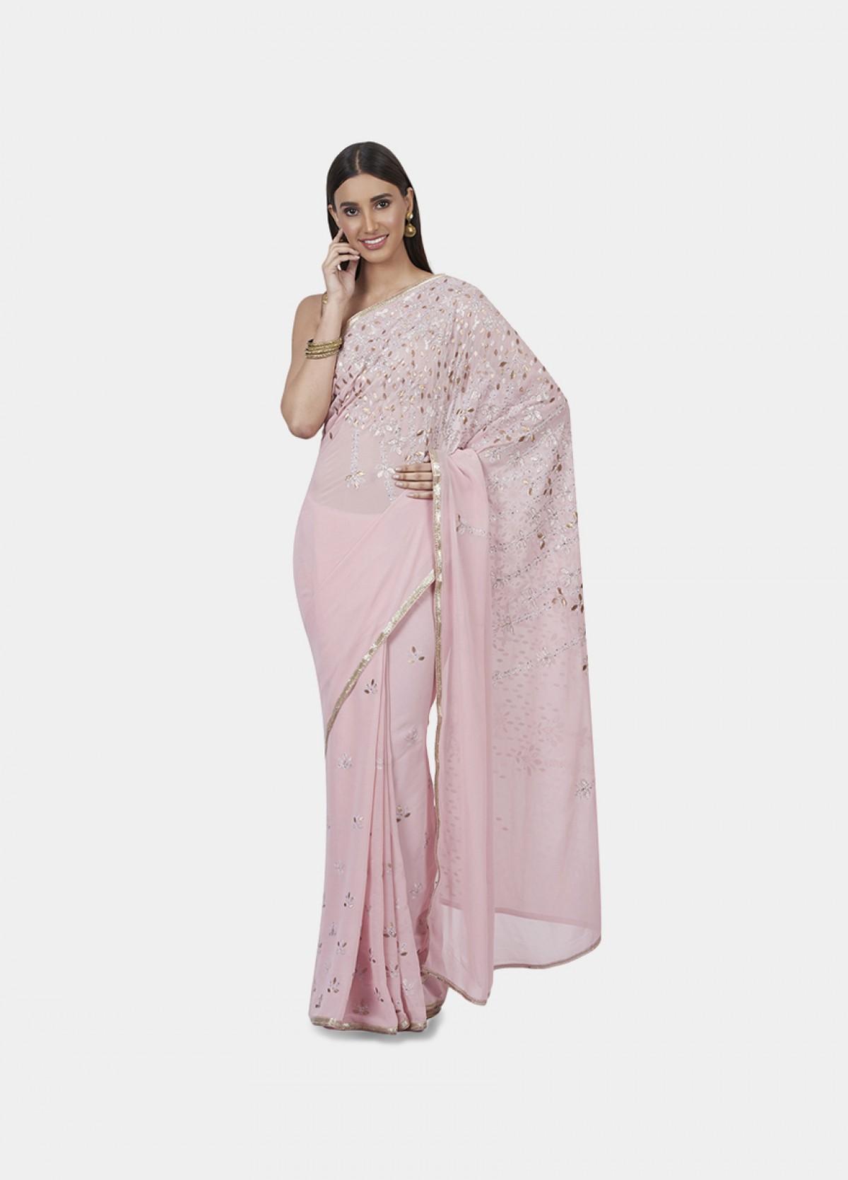 The Metallic Blooms Sari