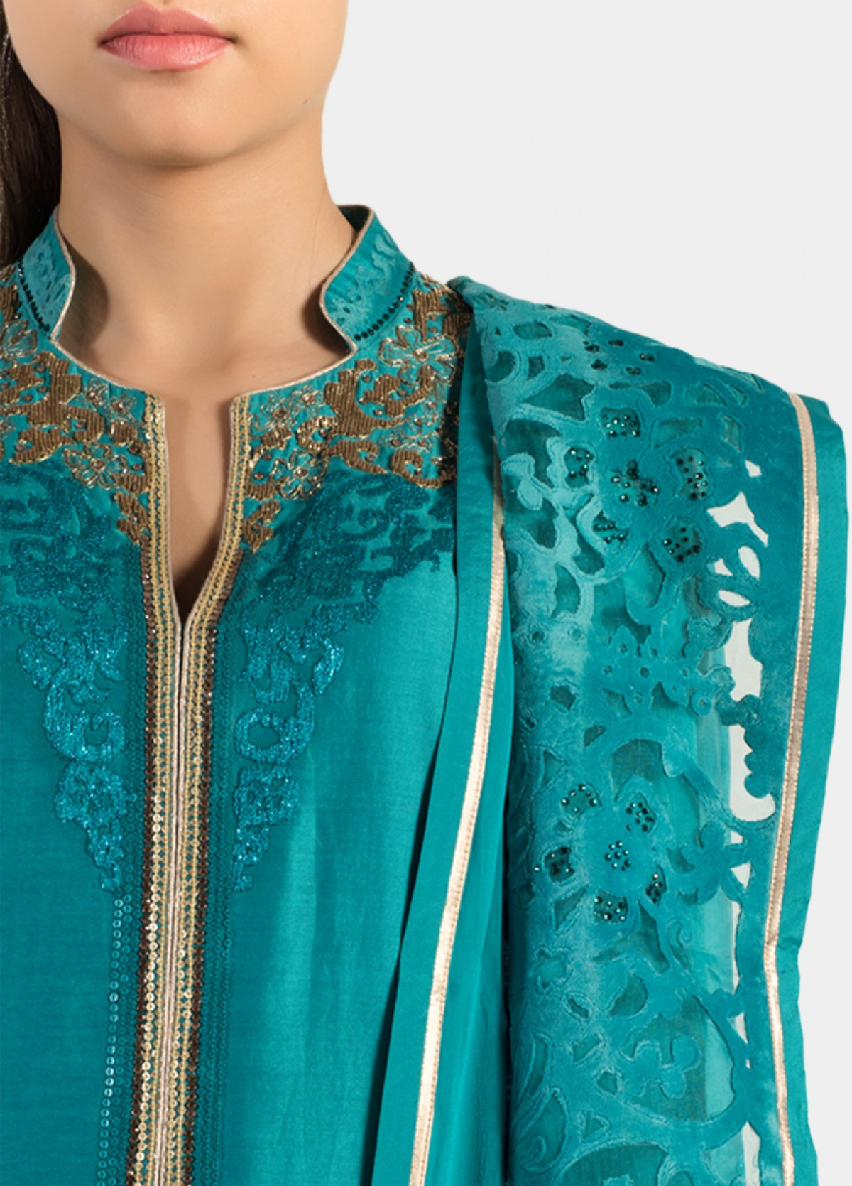 The Straight Cut Embroidered Suit