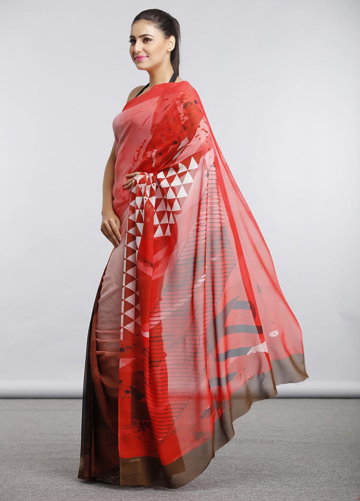 The Graphic Melange Sari