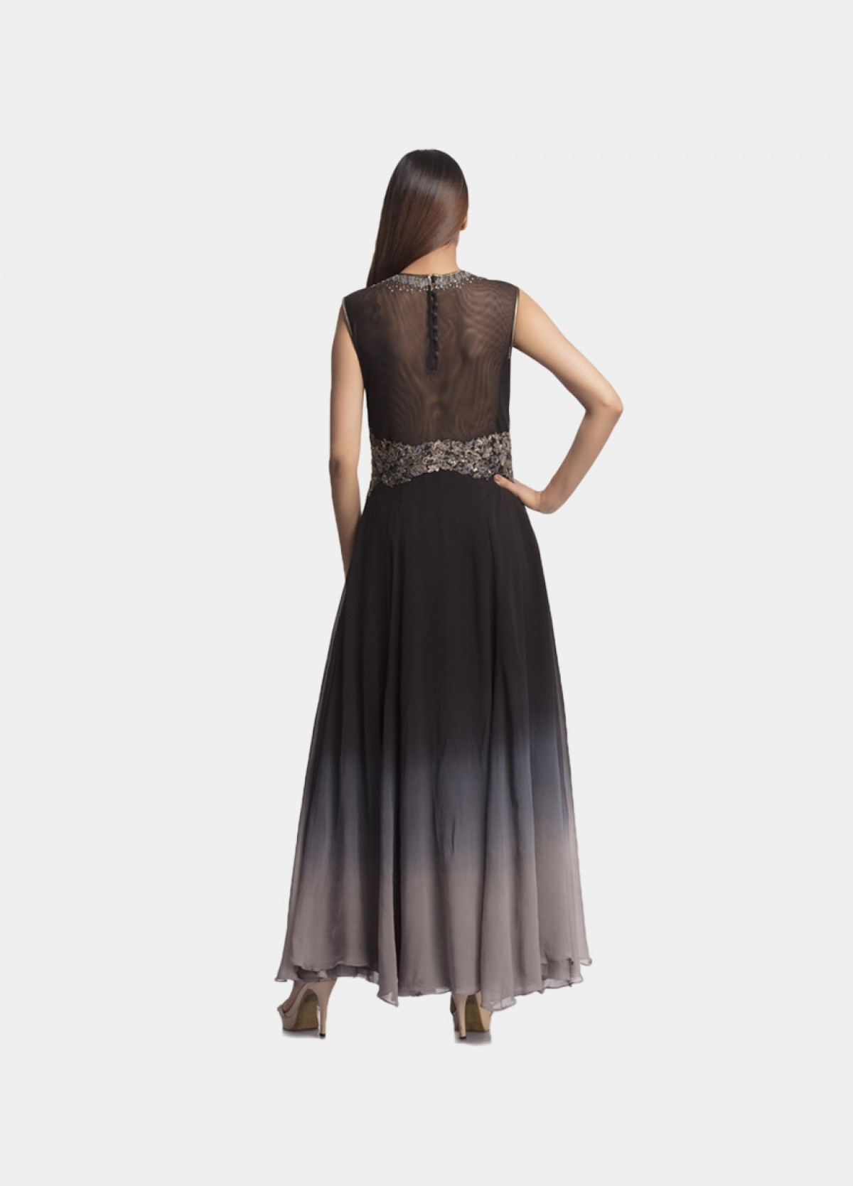 The Mettalic Bloom Gown