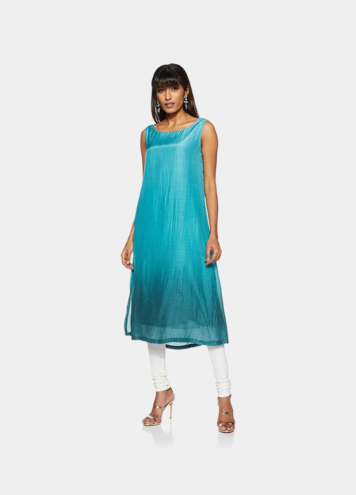 The Women's Blue Chanderi Shrug Shrug