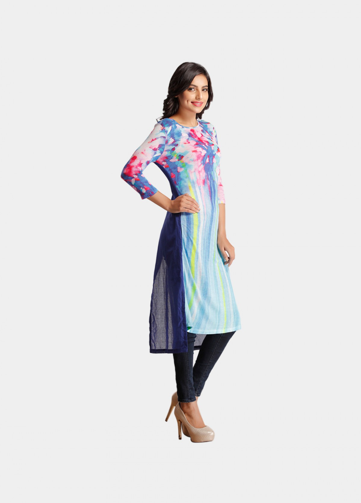 The Colorful Scales Printed Tunic