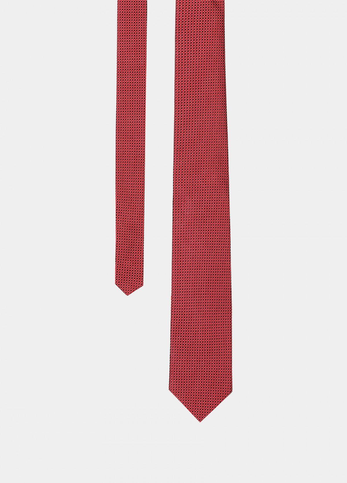 The Red Maroon Silk Tie