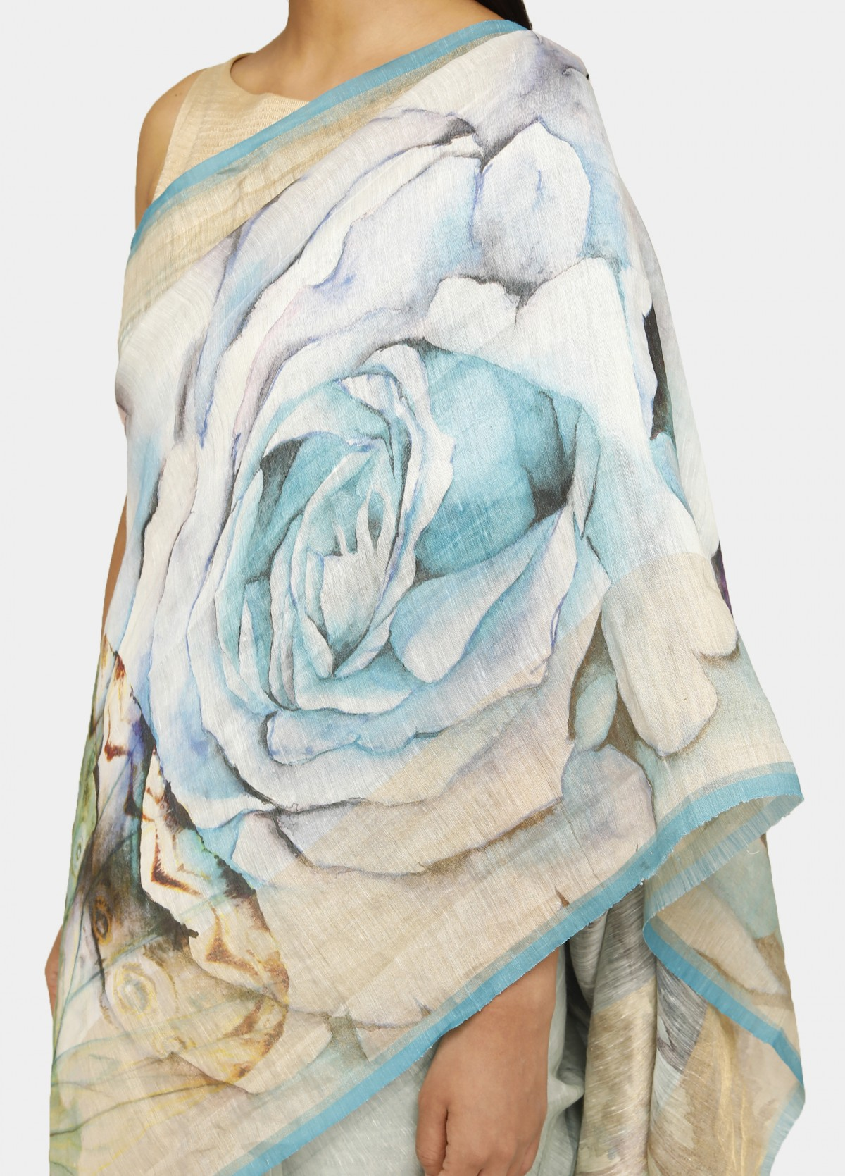 The English Rose Sari
