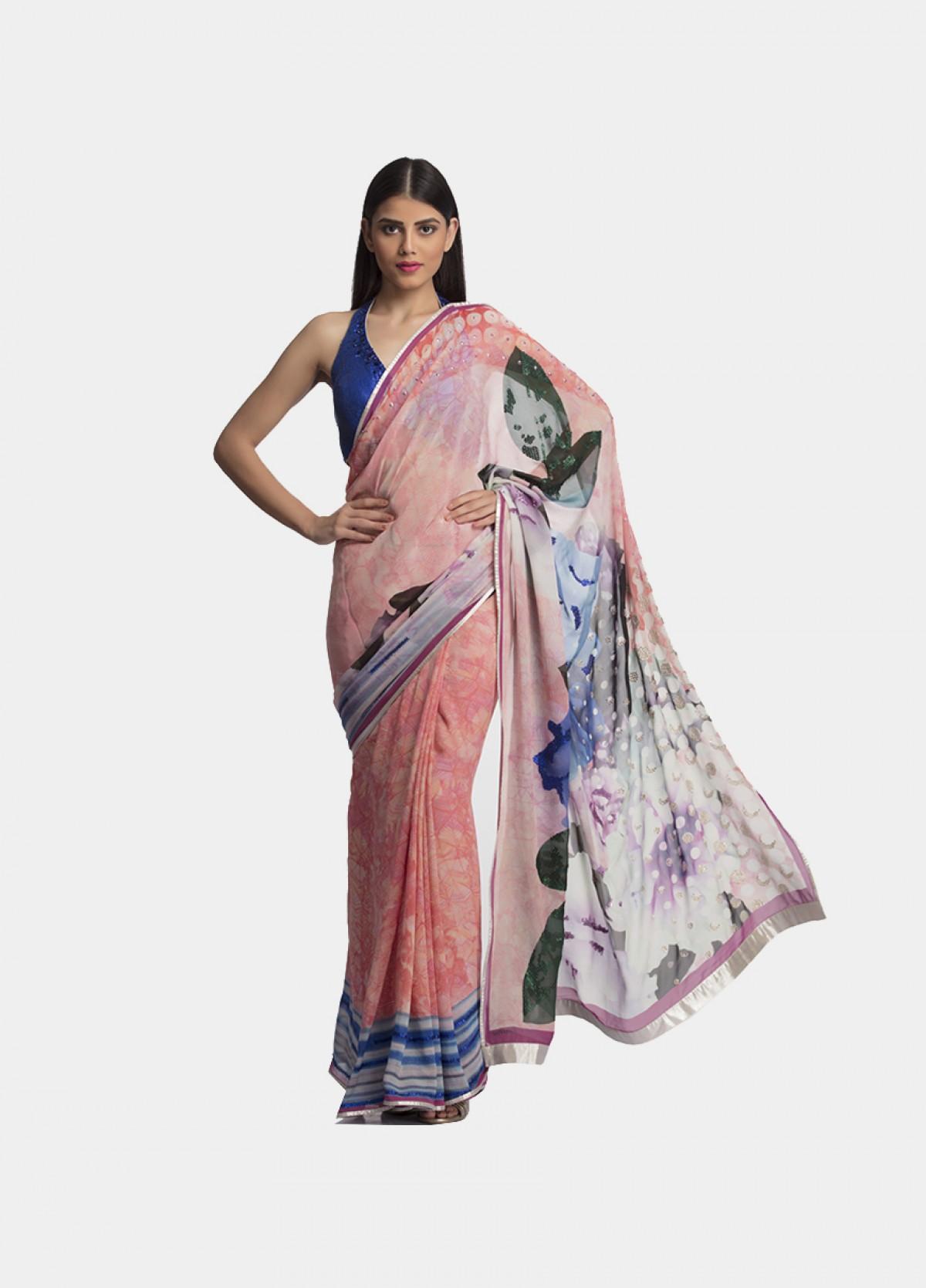 The Royal Peach Sari