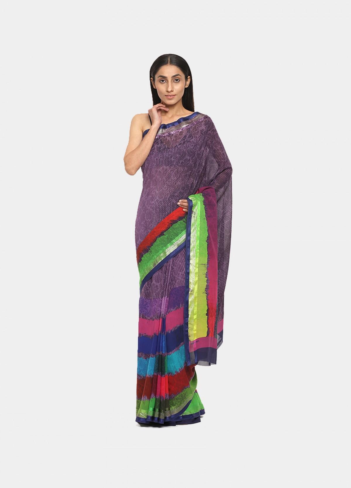 The Multi Colour Traditional Sari