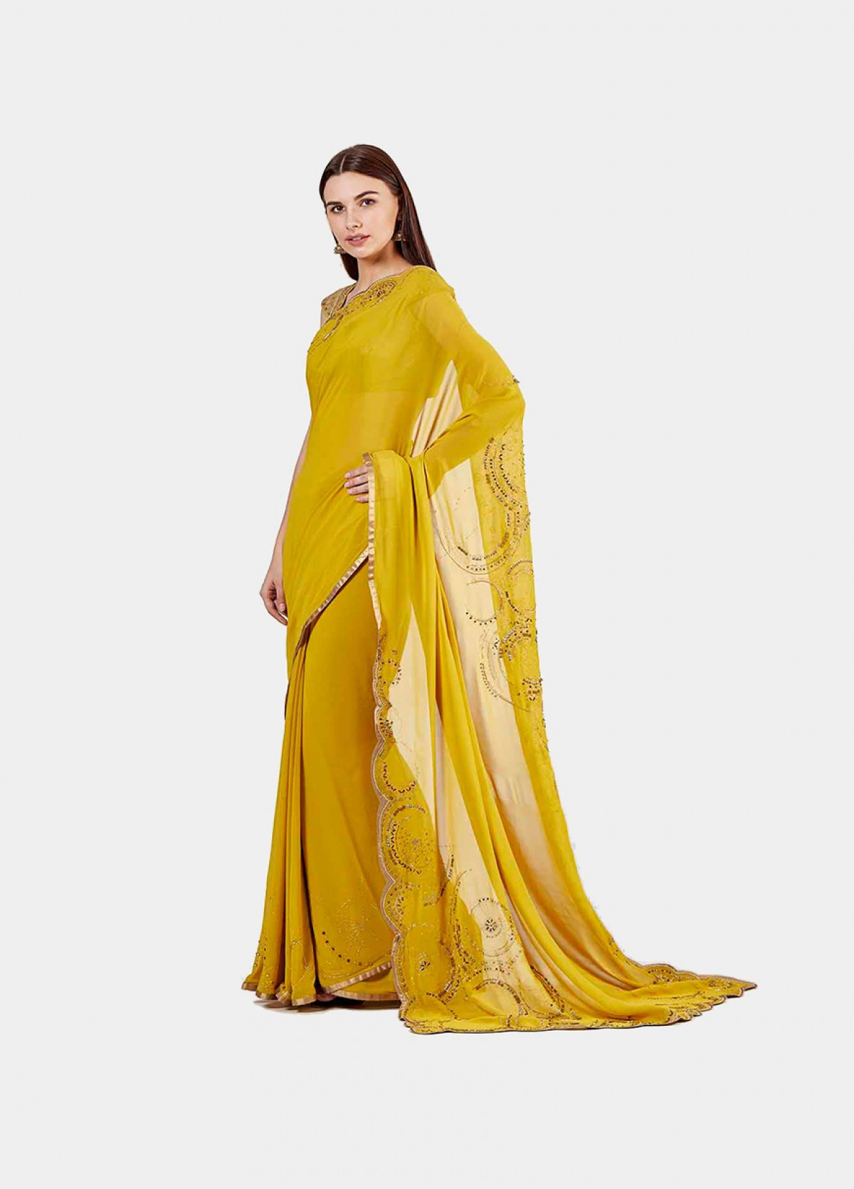 The Scalloped Compass Sari