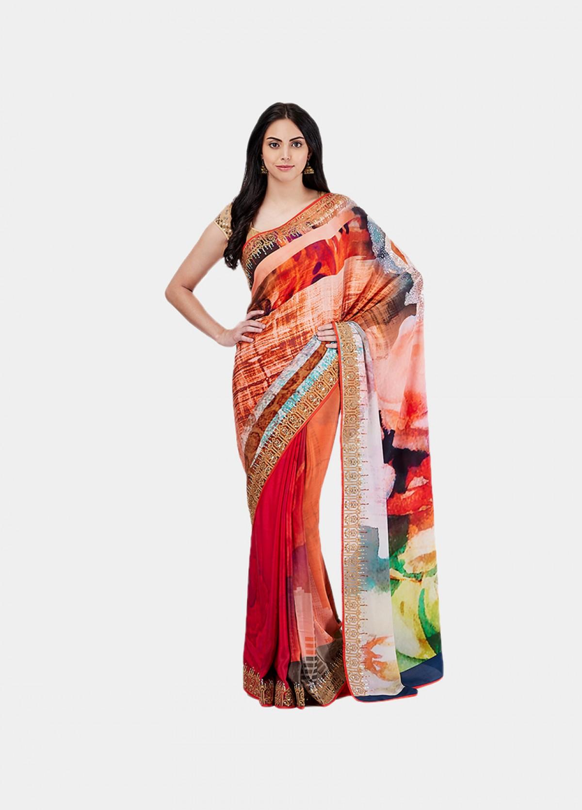 The Winter Blossom Sari