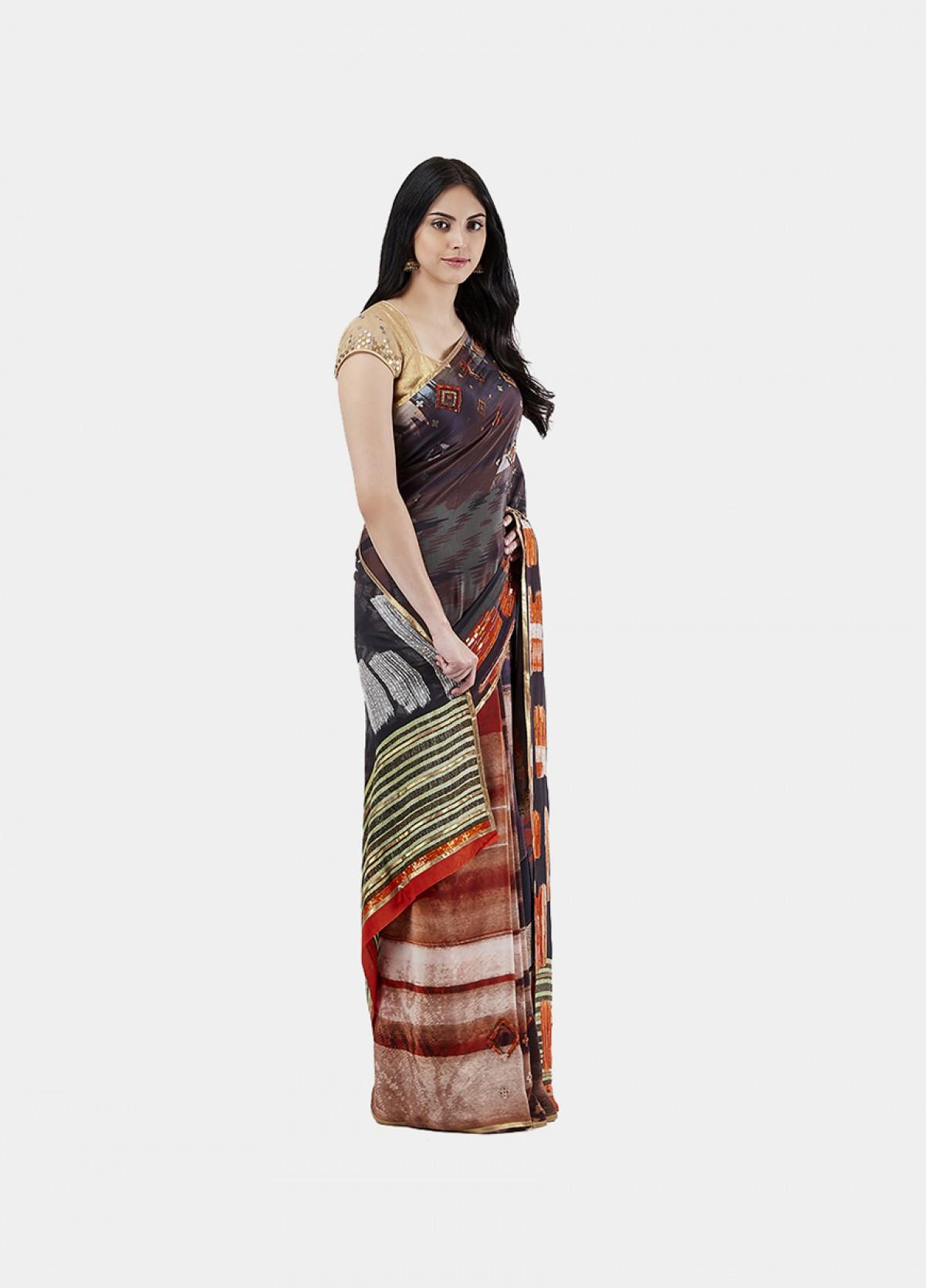 The Motif Collage Sari