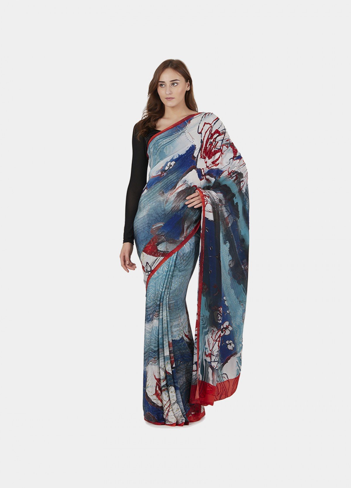 The Floral Sari