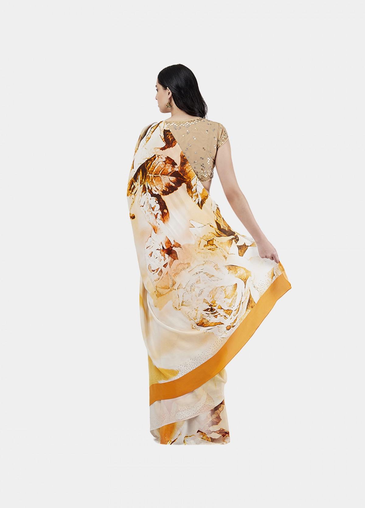 The Vintage Rose Sari
