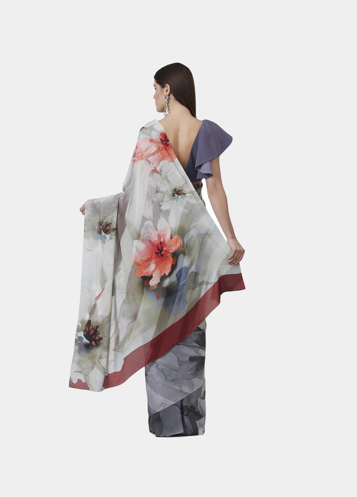 The Wild Flowers Sari