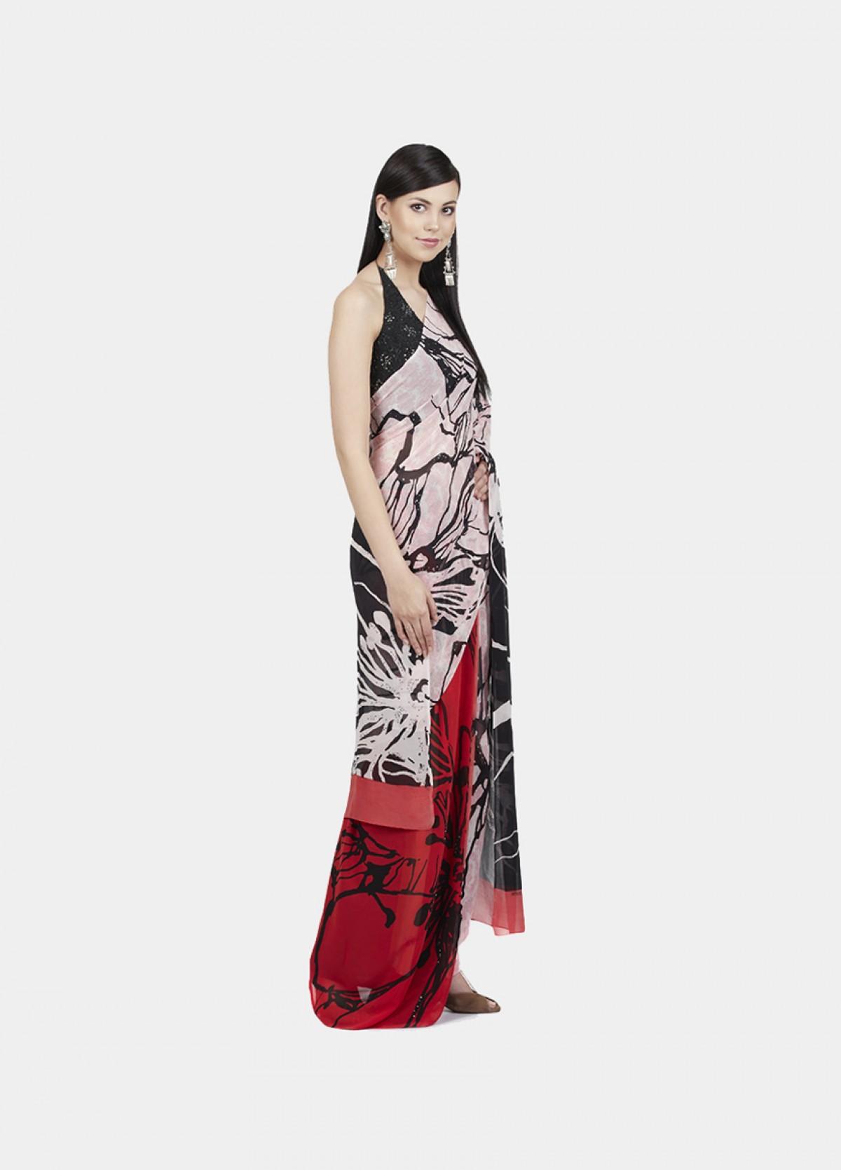 The Hibiscus Sari