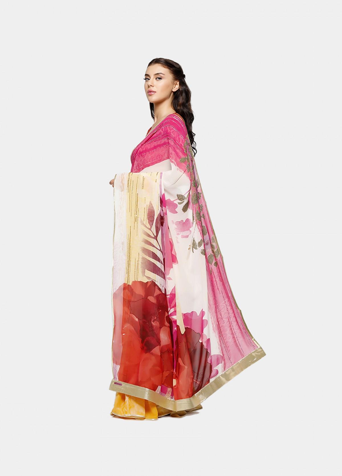 The Elegant Printed Sari