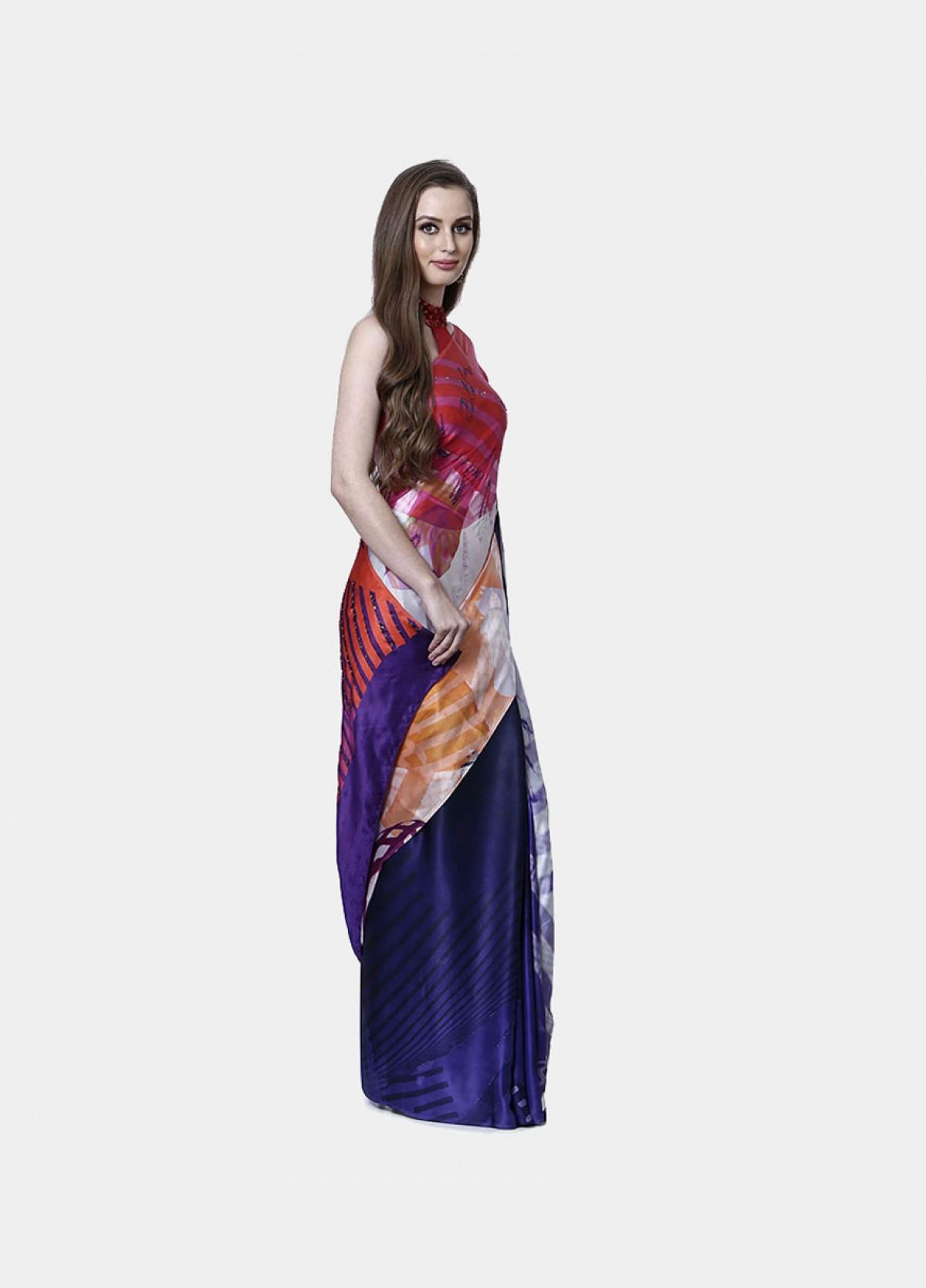 The Chevron Waves Sari