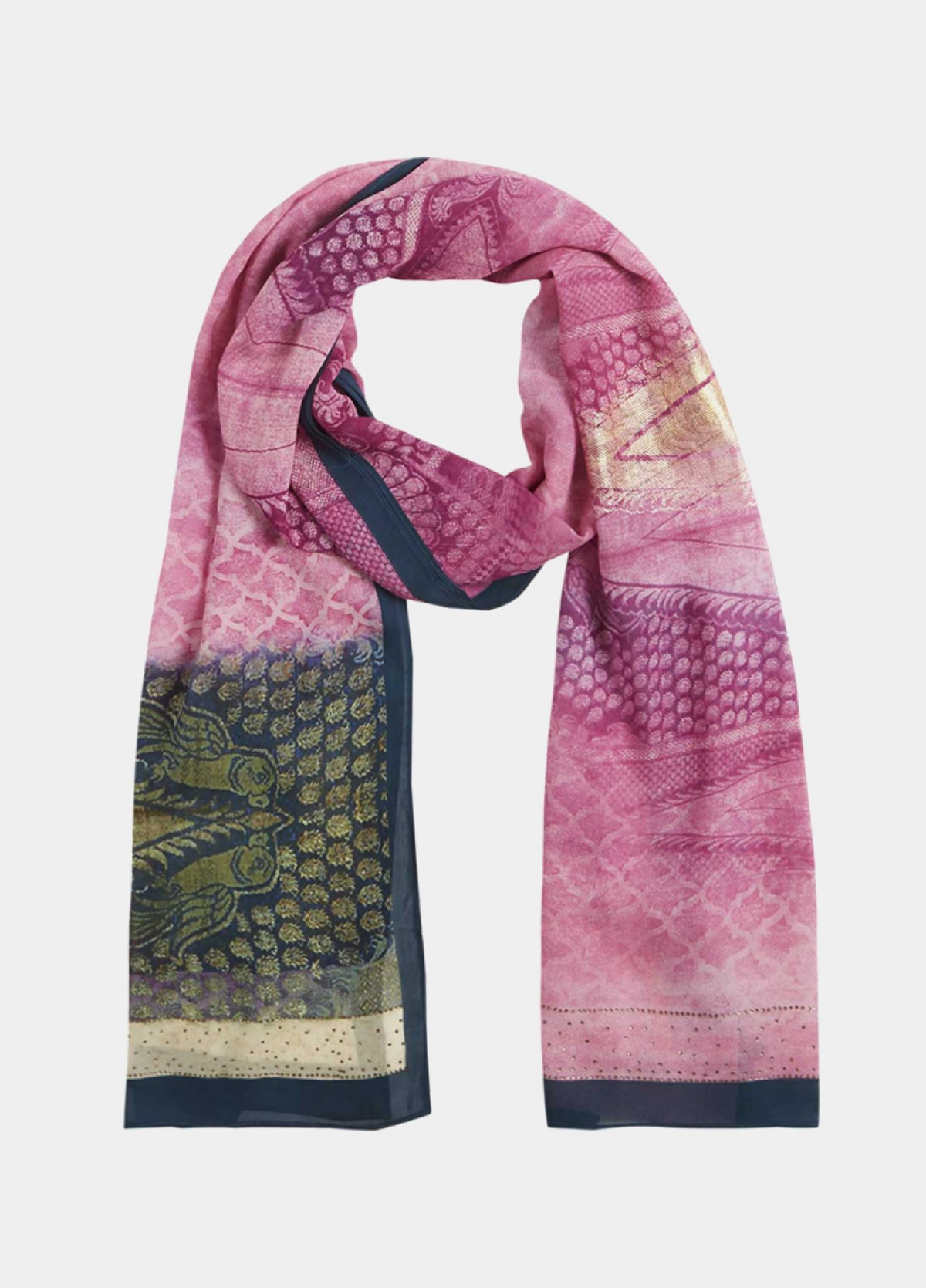 The Pink Orchid Georgette Stole