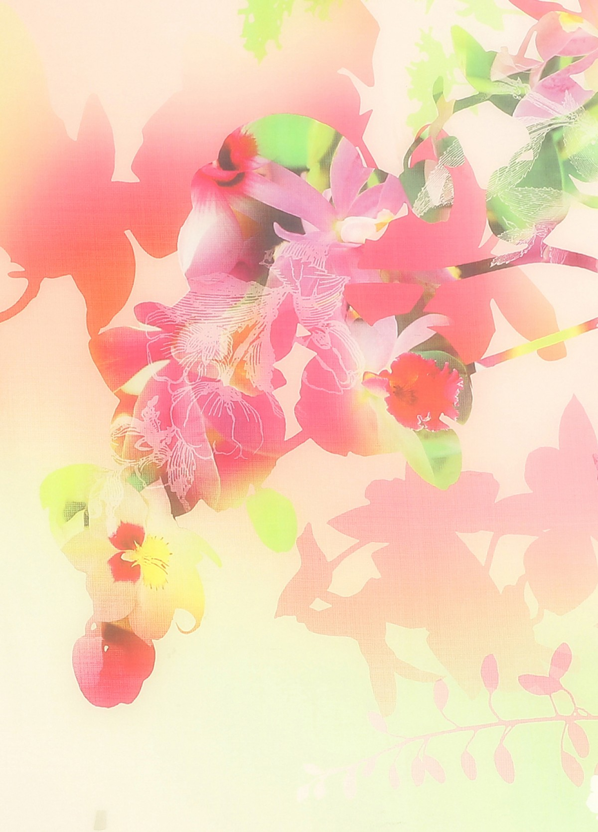 The Pink Magenta Silk Scarf