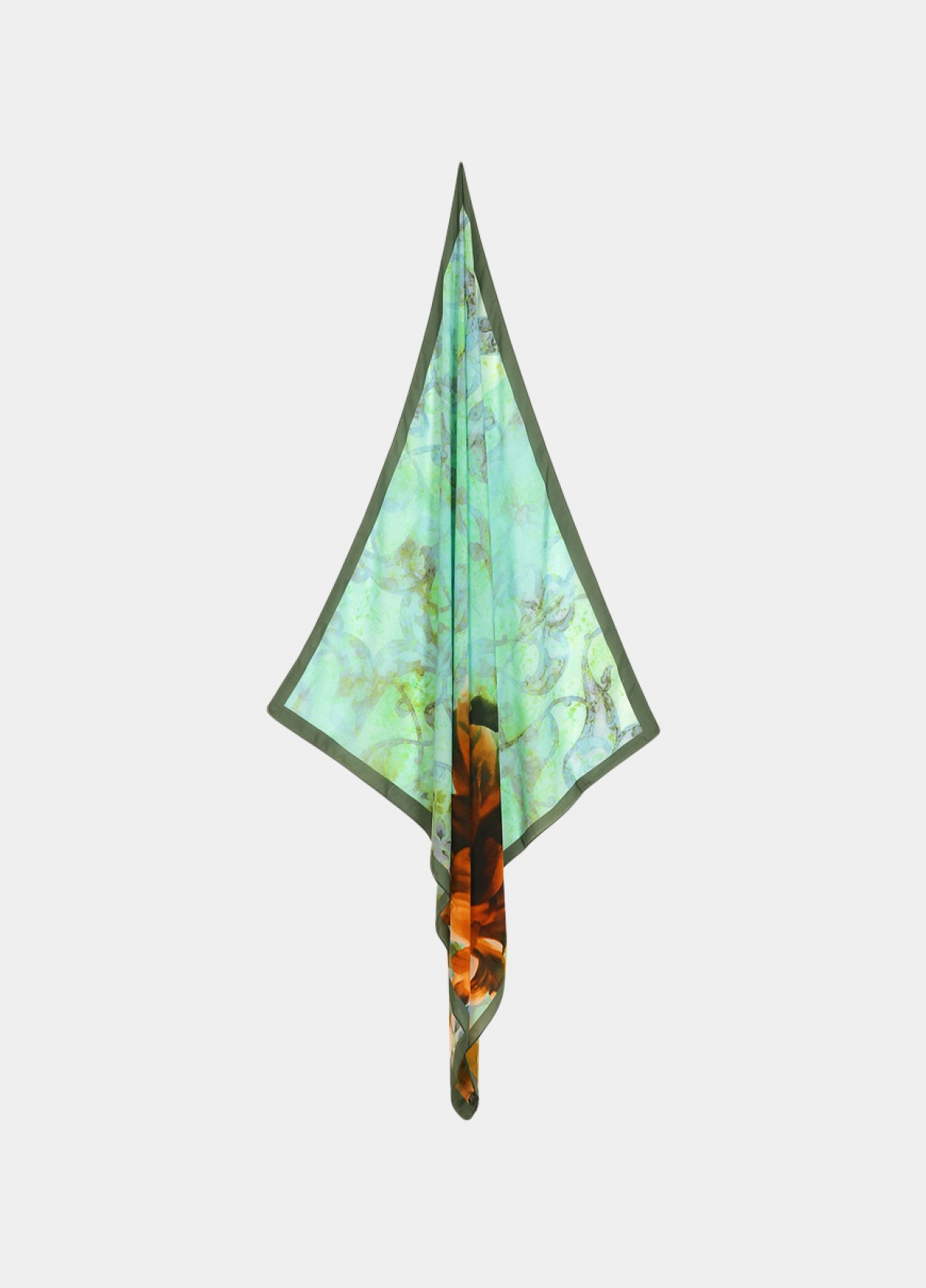 The Brown Light Silk Scarf