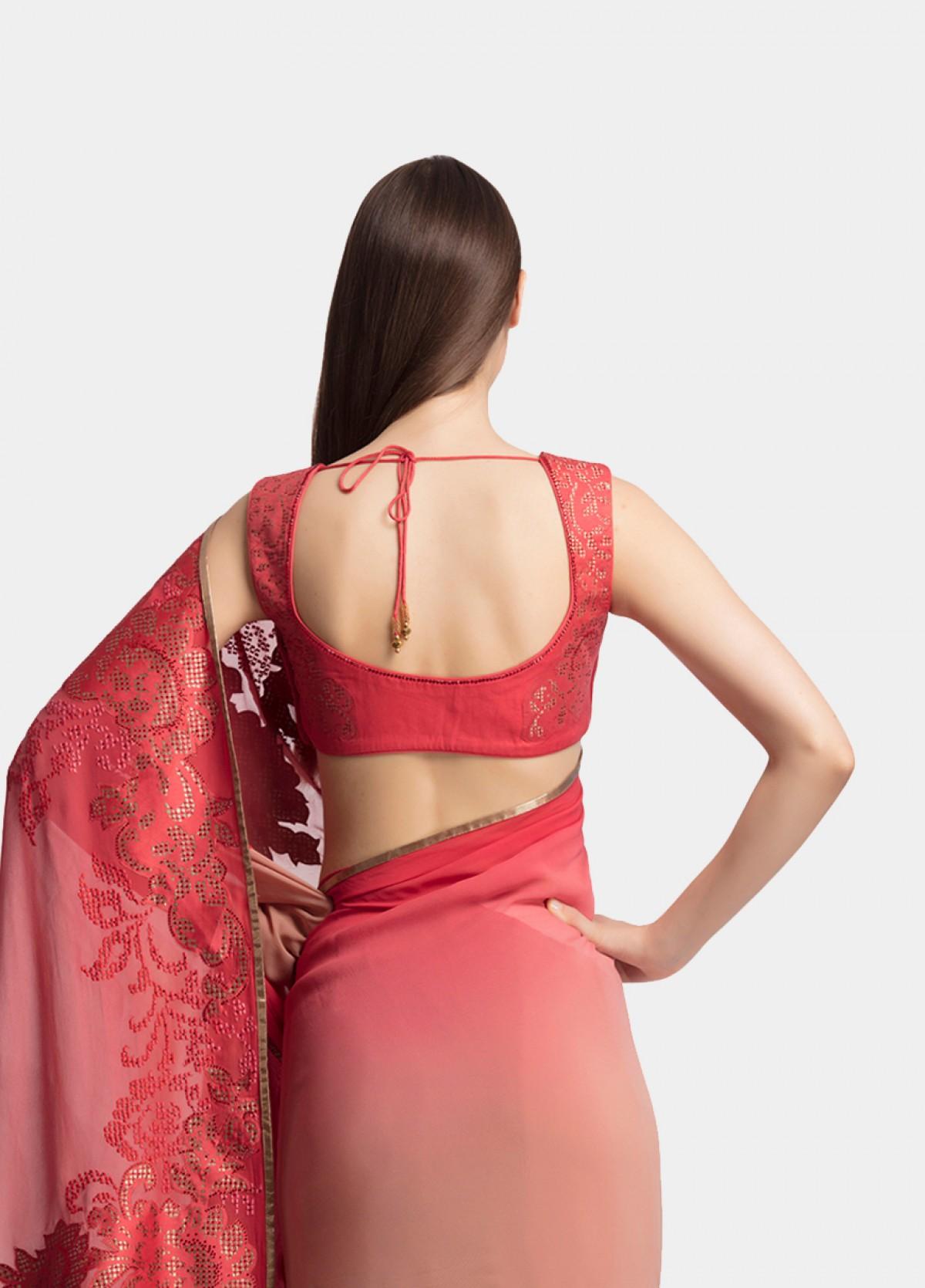 The Blush Shimmer Sari