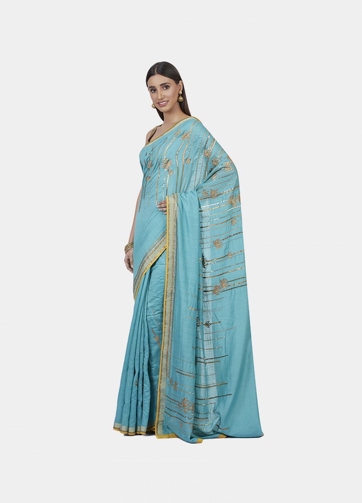 The Lotus Gleam Sari