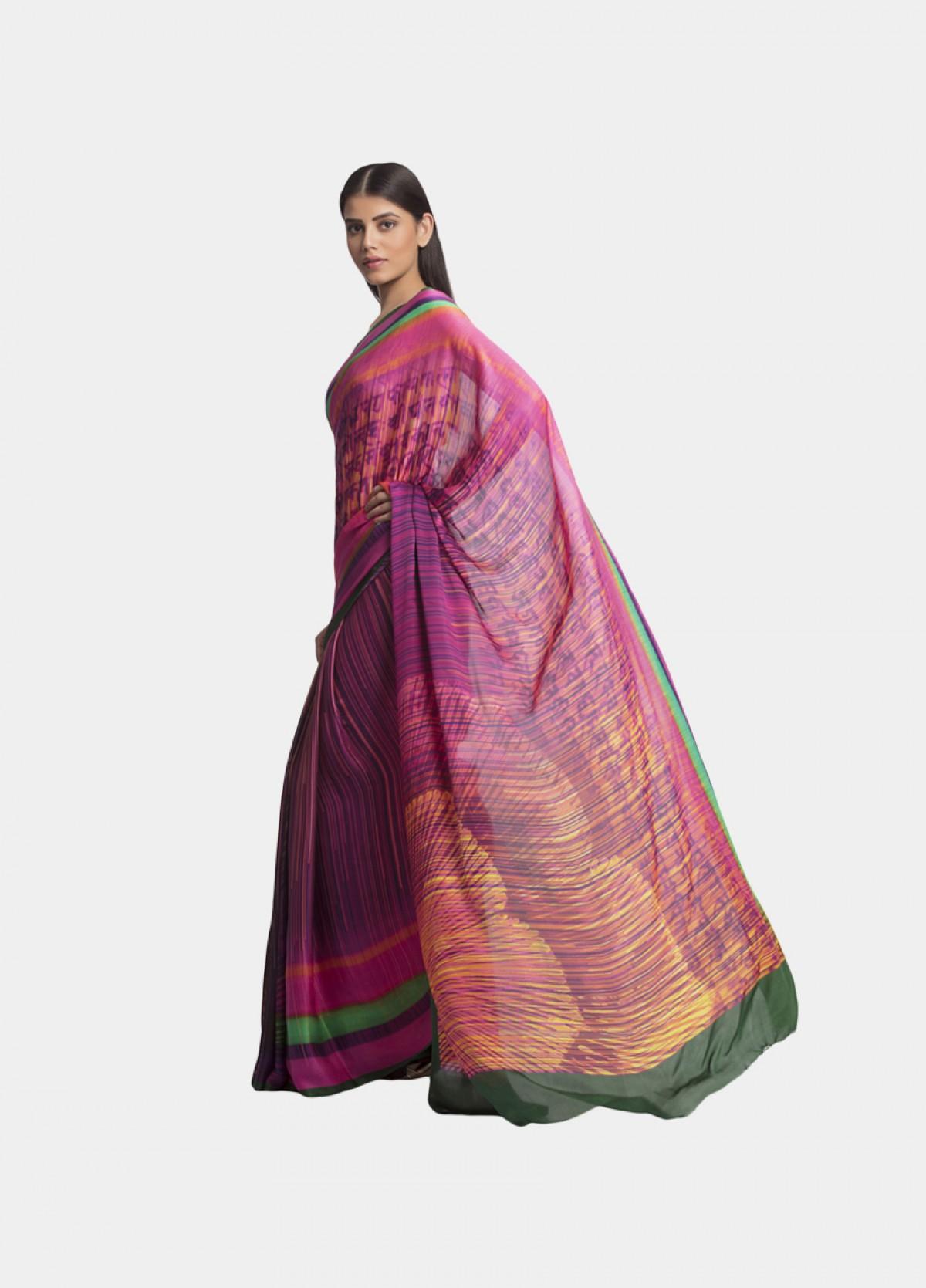 The Rani Georgette Satin  Sari