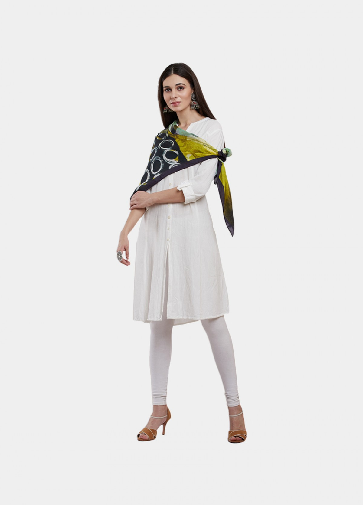 The Green Olive Silk Scarf