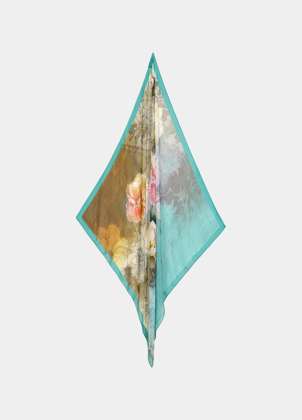The Blue Aqua Silk Scarf