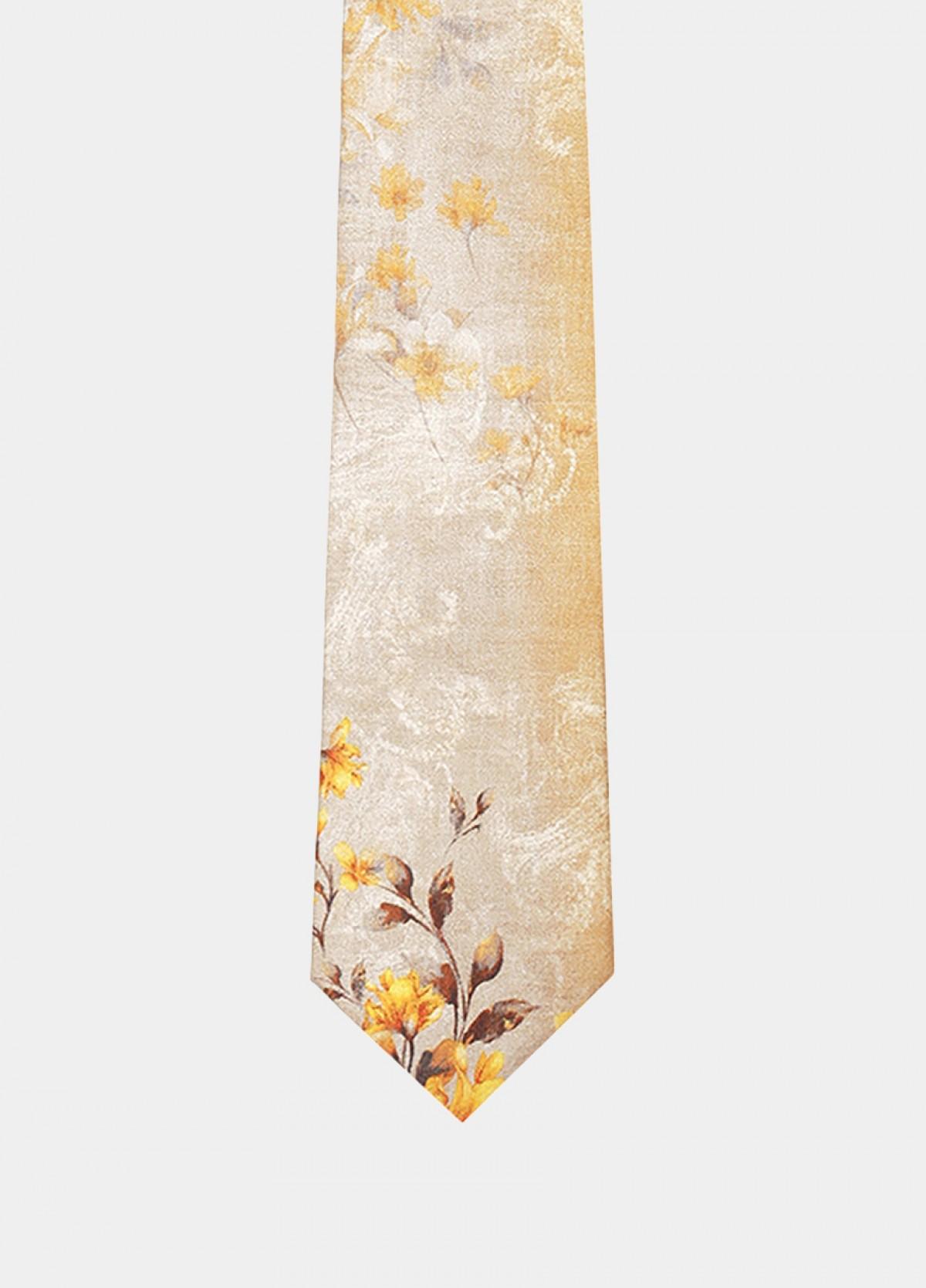 The Pink Dark Printed Silk Tie