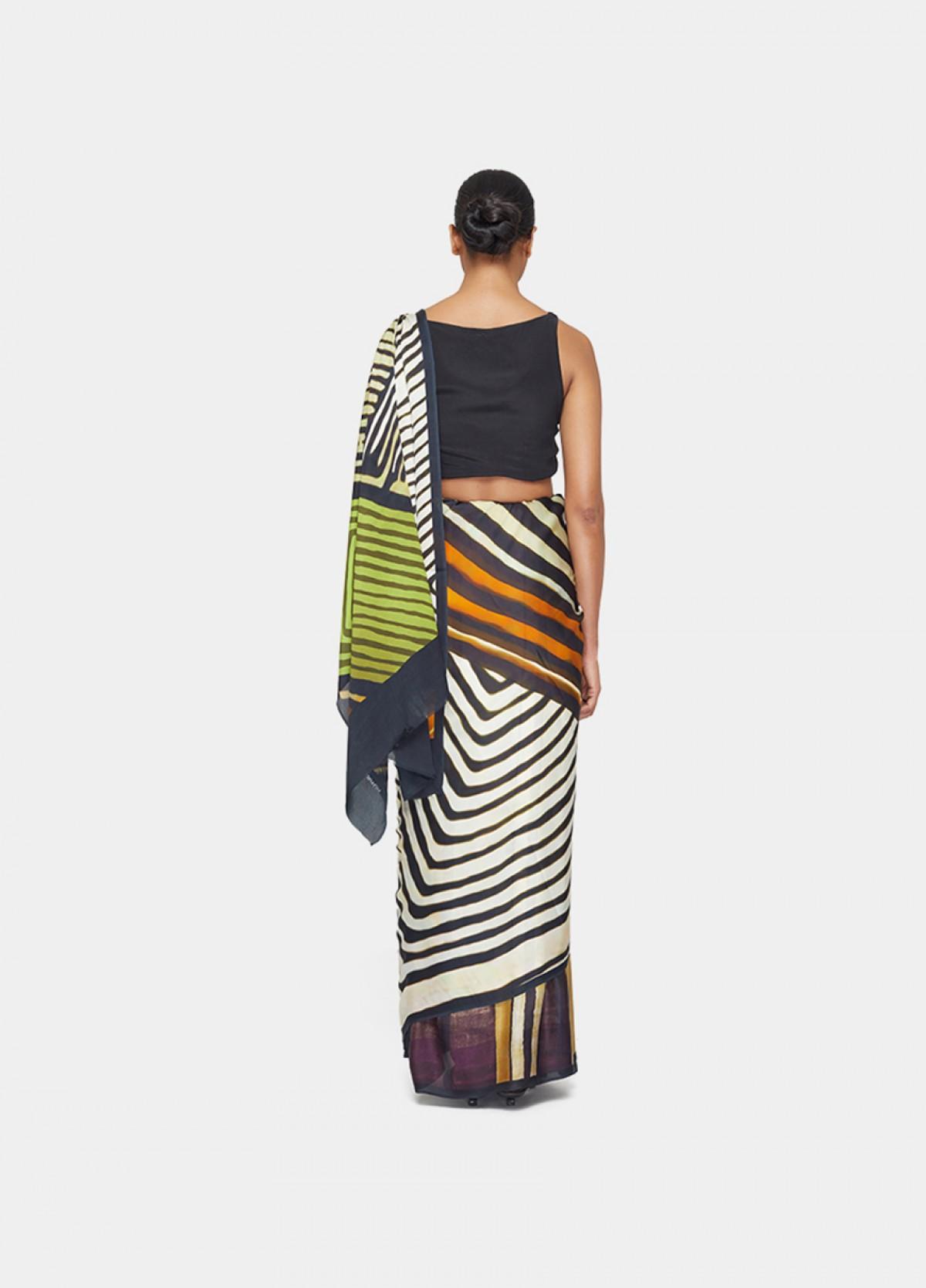 The Stripe Play Sari