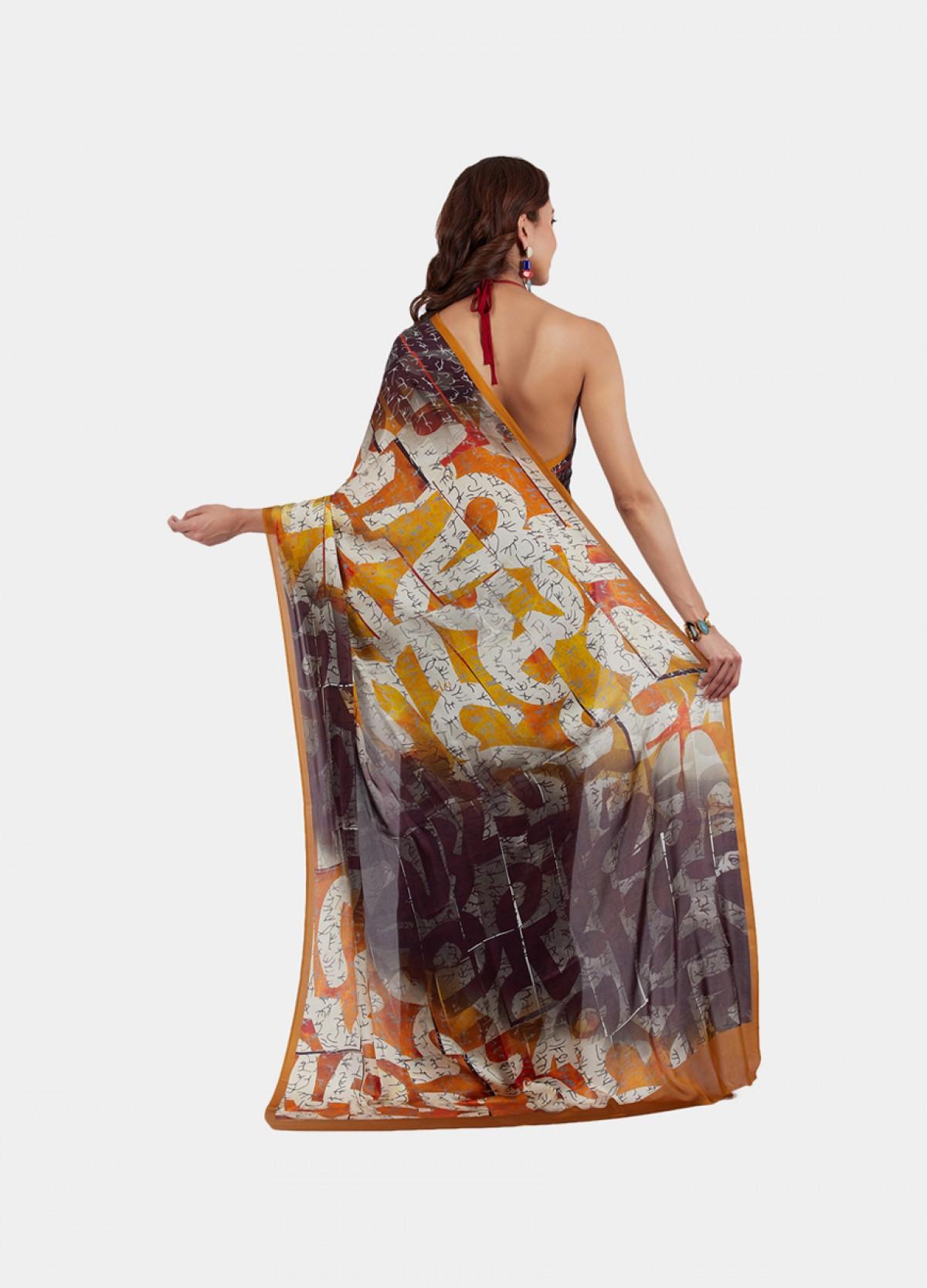 The Number Play Sari