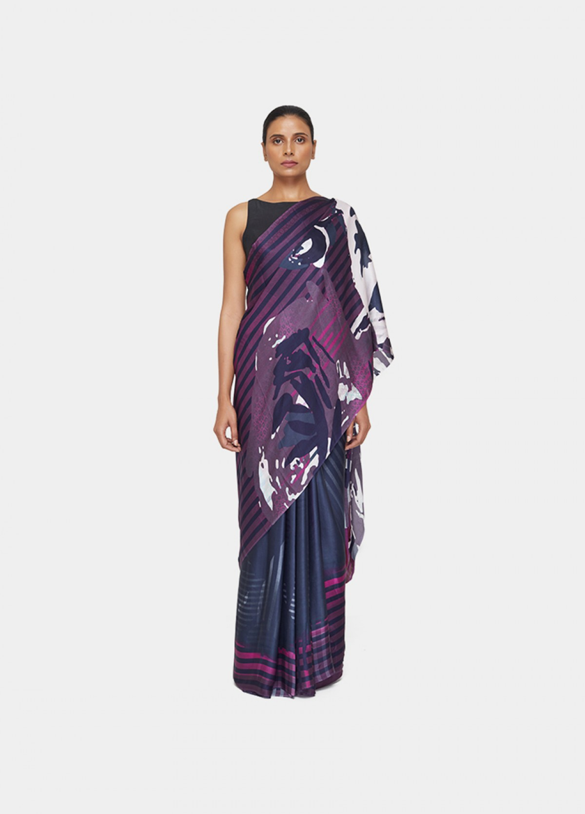 The Floral Streaks Sari