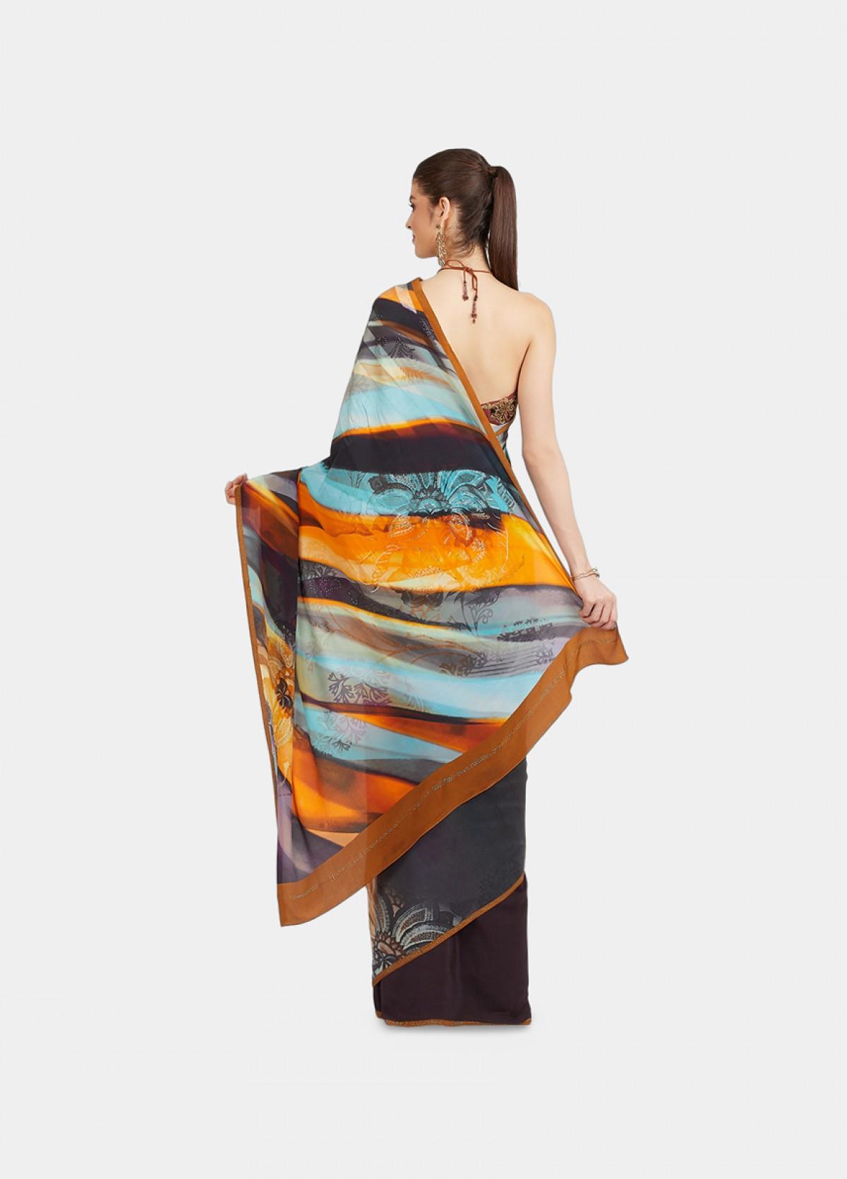The Color Fusion Sari