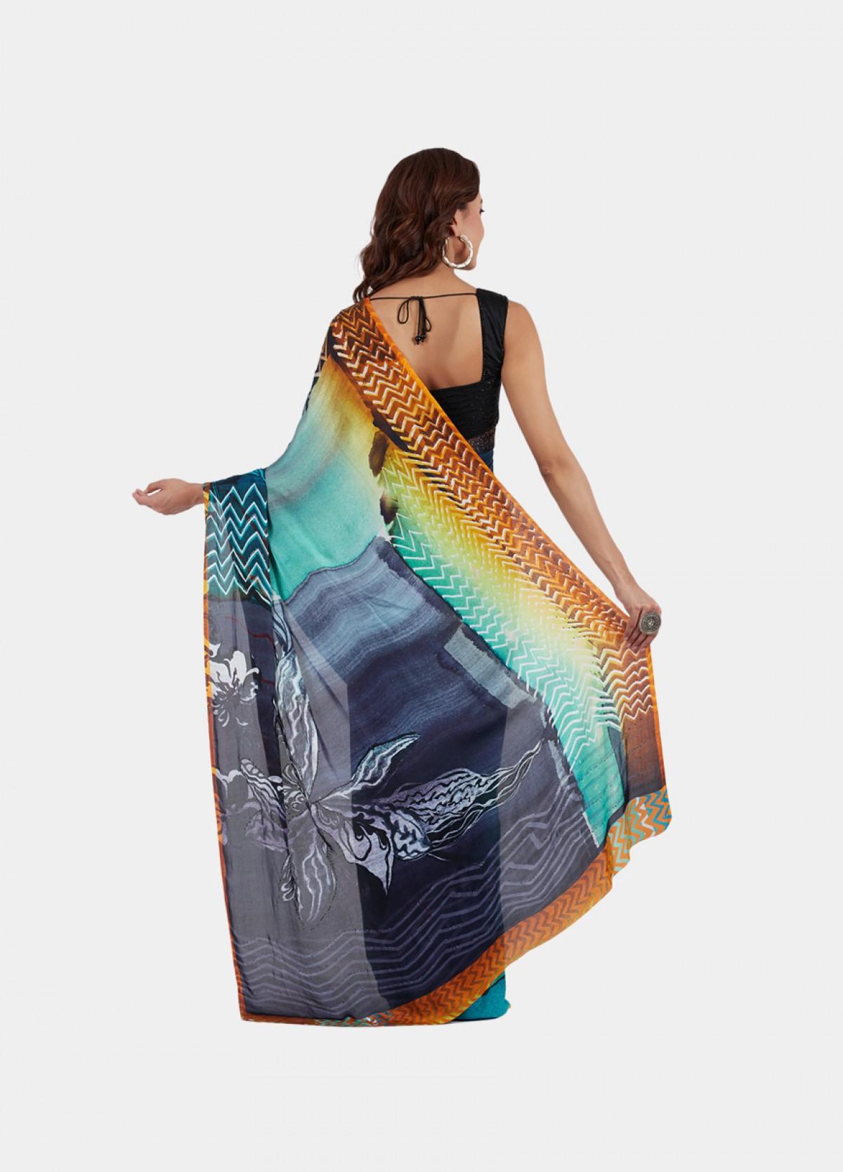 The Chevron Sari