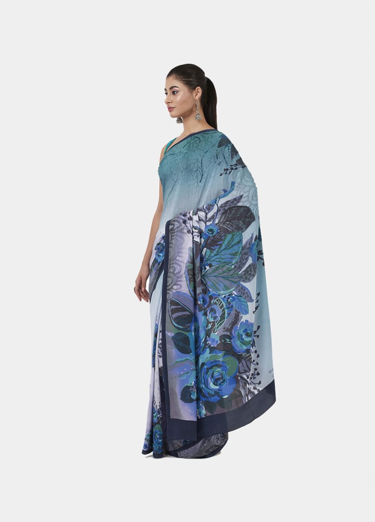The Winter Florals Sari