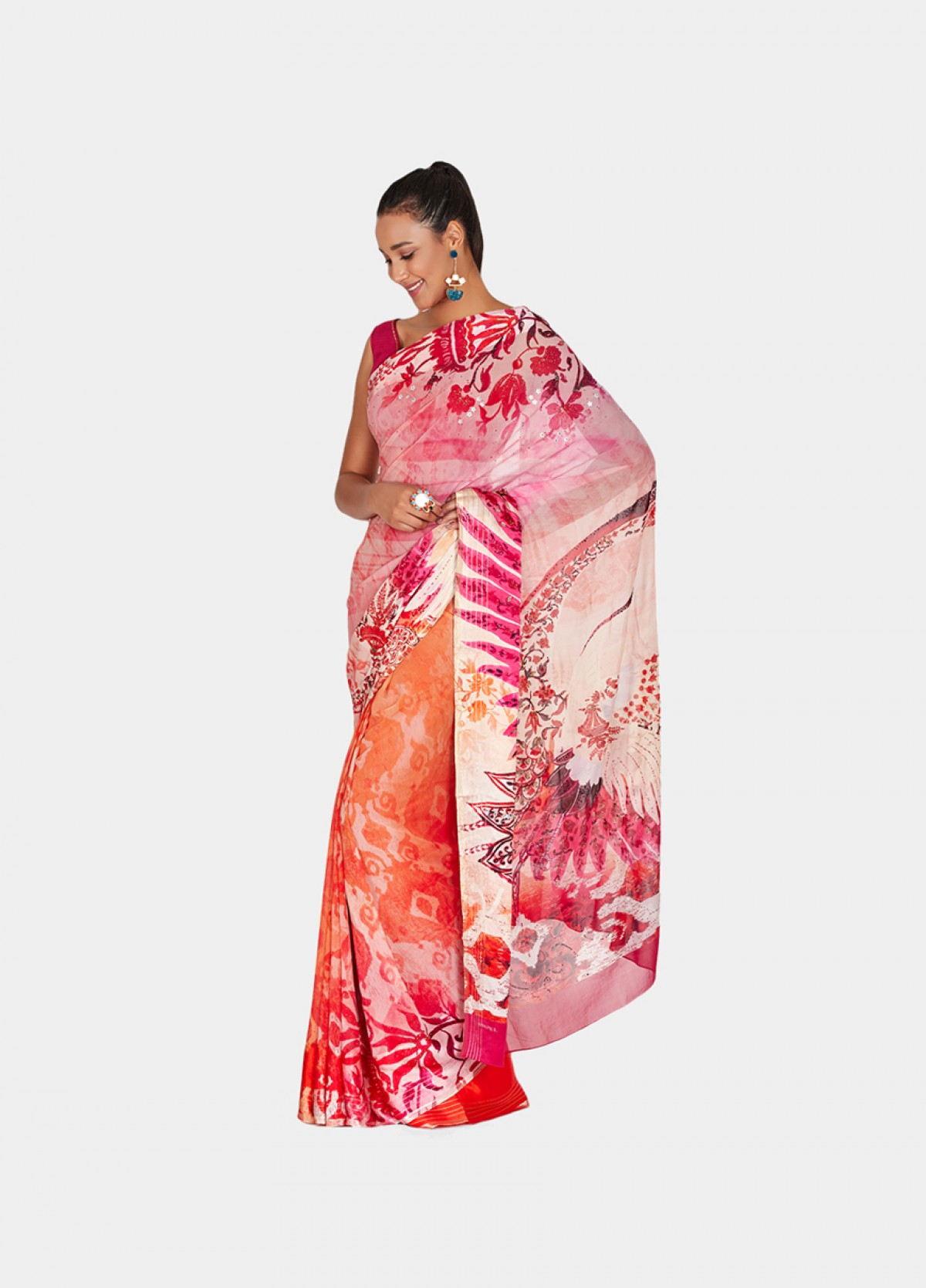 The Crane Sari