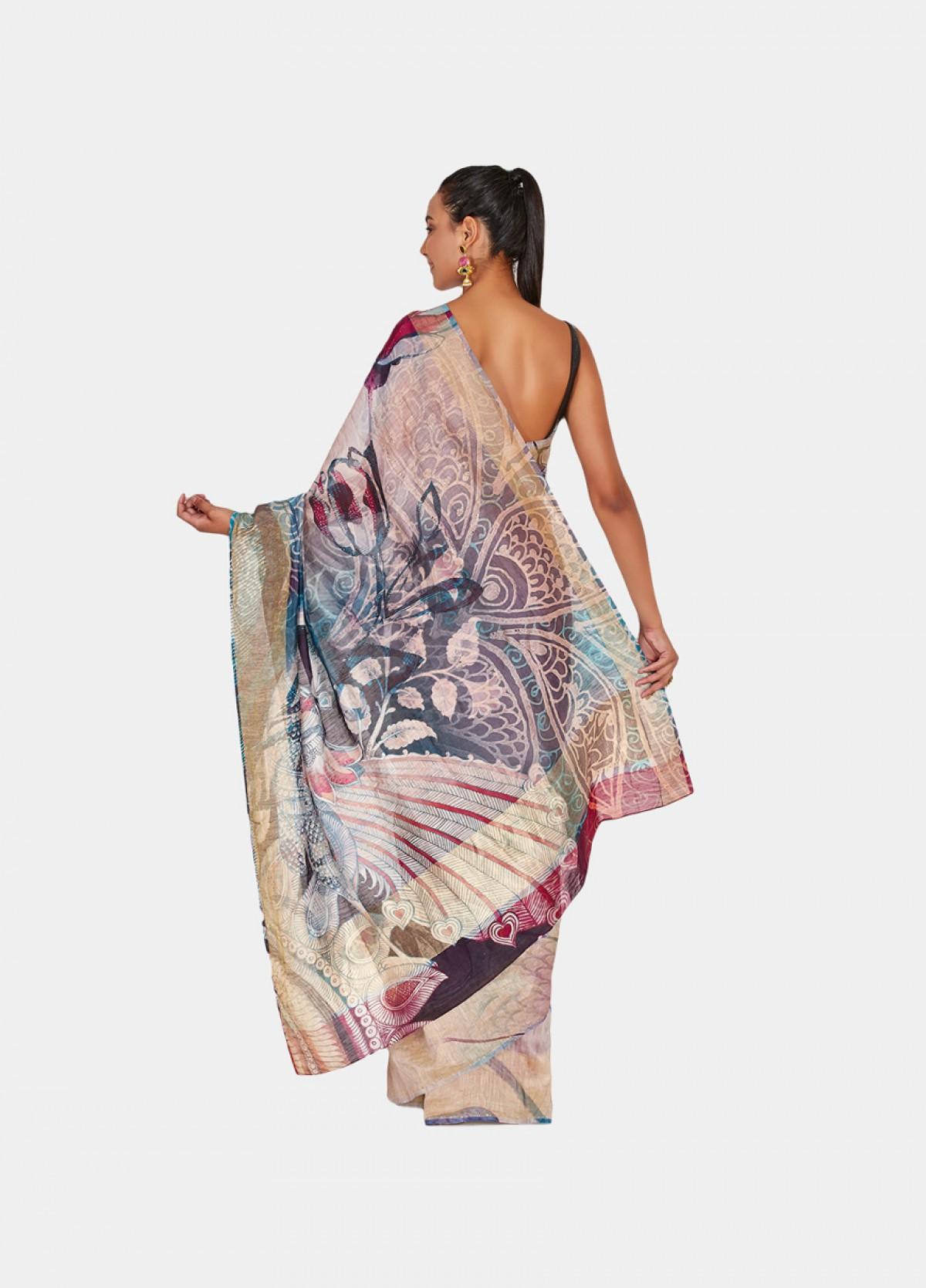The Peacock Sari