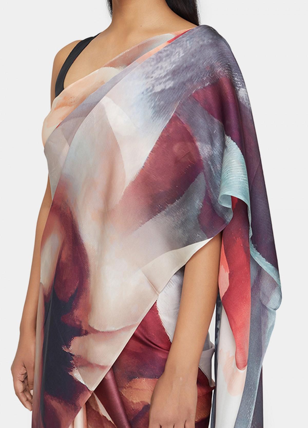 The Arctic Bloom Sari
