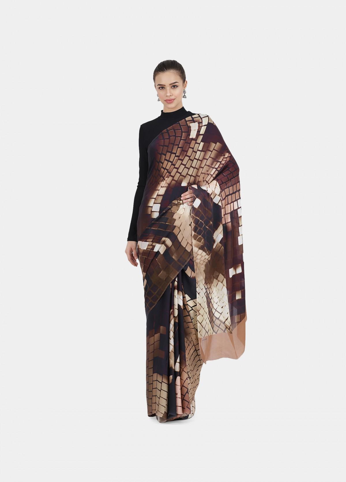 The Pixel Print Sari