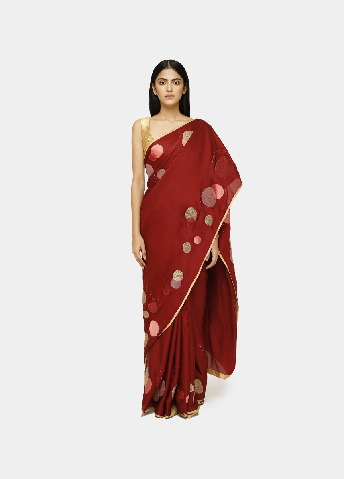 The Polka Tint Sari