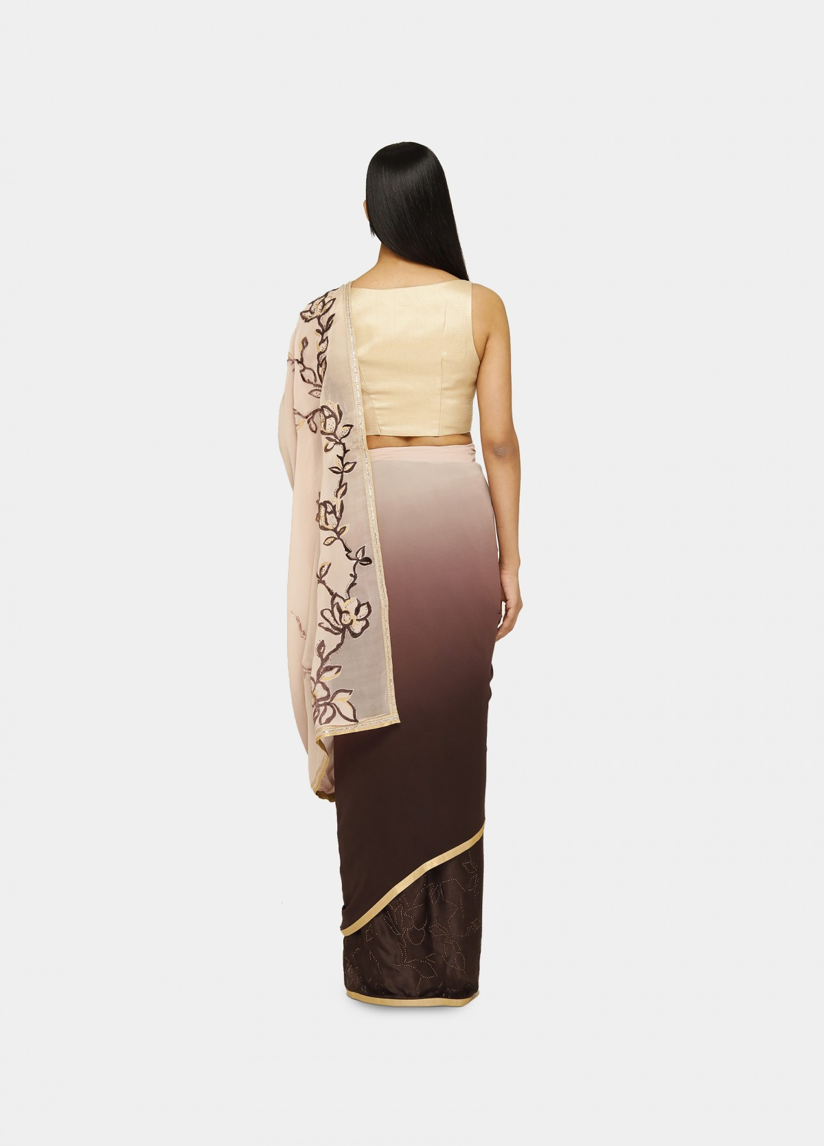 The Radiant Bloom Sari