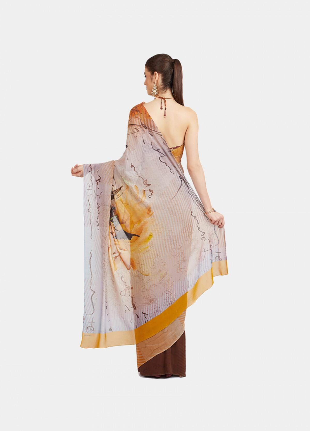 The Chrysanthemum Sari